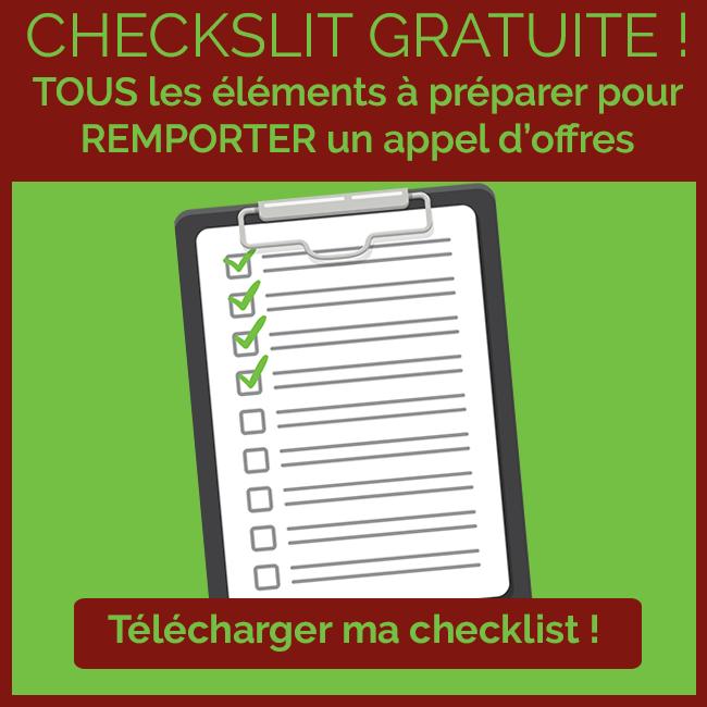 Checklist : tous les éléments à préparer pour remporter un appel d'offres